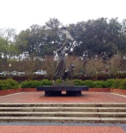 The Waving Girl in Savannah.