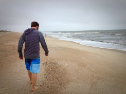 Beach strolling.