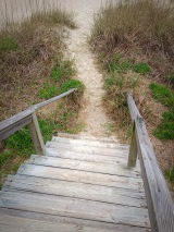 Steps down to the beach...