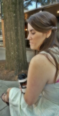 Downtown Greenville before leaving for North Carolina, having one last coffee date.