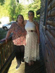 Mama and me before the ceremony.