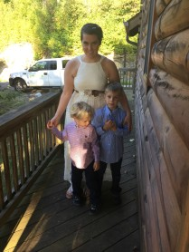 Attempting to get a picture with my nephews before the ceremony.